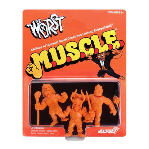 The Worst MUSCLE - Pack B (Black Falcon, Snake Tut, X-2) (Orange)