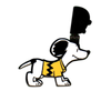Peanuts Enamel Pin - Snoopy With Mask