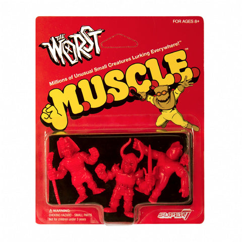 The Worst MUSCLE - Pack B (Black Falcon, Snake Tut, X-2) (Red)