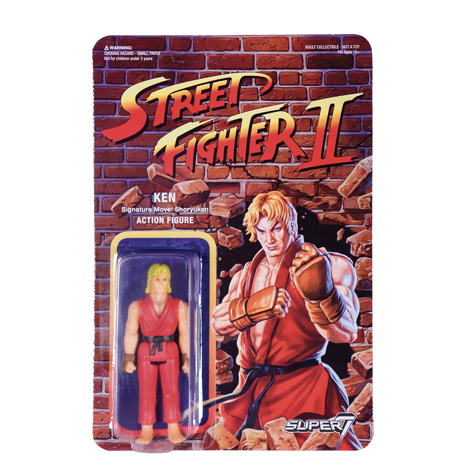 Street Fighter 2 Reaction Figure Ken Super7