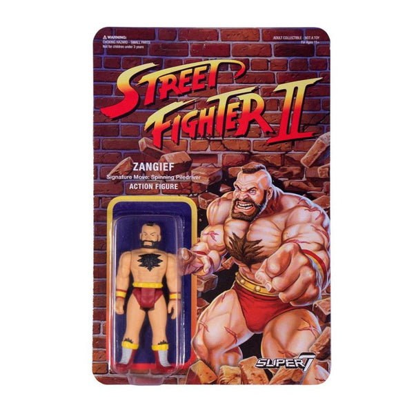 Street Fighter 2 Reaction Figure Zangief Super7