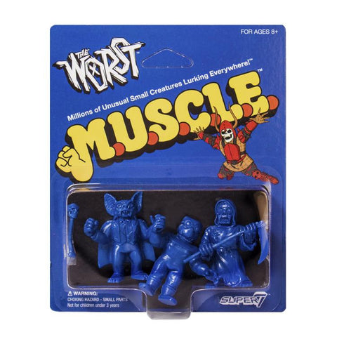 The Worst MUSCLE - Pack A (Batula, Gas Phantom, Robot Reaper) (Blue)