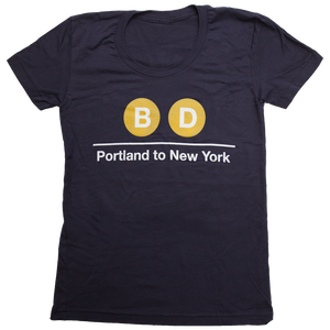 Brett Dennen - Women's Subway T-shirt - Closeout