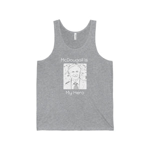"""McDougall is My Hero"" Men's Jersey Tank, Grey"