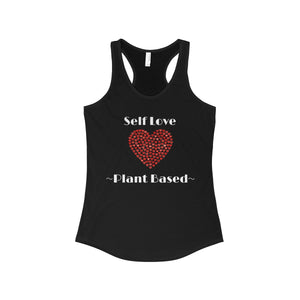 """Self Love"" Women's Ideal Racerback Tank, Black"