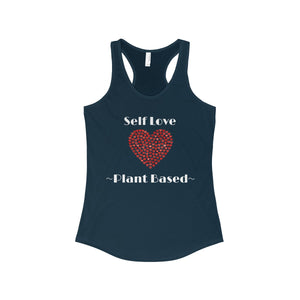 """Self Love"" Women's Ideal Racerback Tank, Navy"