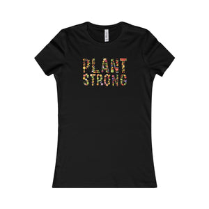 """Plant Strong"" Women's Favorite Tee, Black"