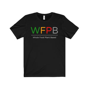 """WFPB"" Men's Jersey Short Sleeve Tee, Black"