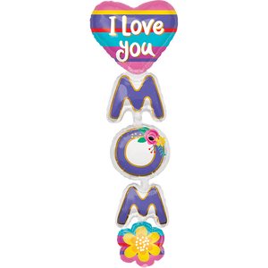 "Globo 38"" / 96 cm I Love Mom Vertical"