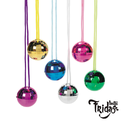 Collar Disco Ball Colores Mini