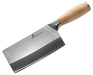 3-Layer Forged Medium-Duty Cleaver 6.5-inch, Oak