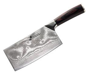 VG-10 67-Layer Damascus Steel Light Slicer Chopping chef butcher Knife 6.5-inch, silver