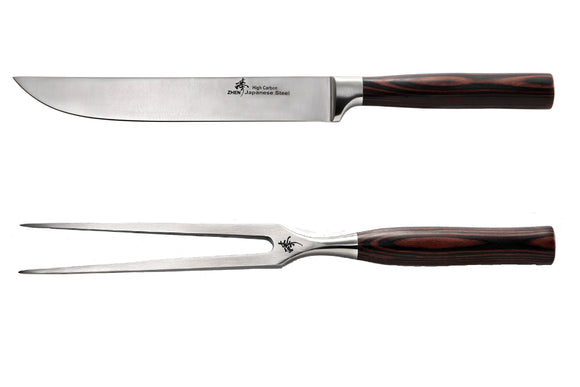 440C High Carbon 2-Piece Carving Set