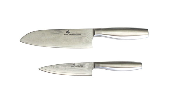 VG-10 67-Layer Damascus Steel Santoku Knife Set