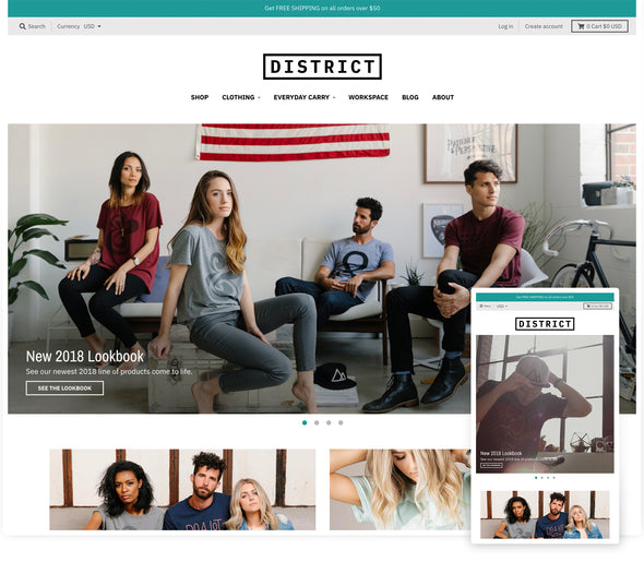 District Theme - District design preset homepage