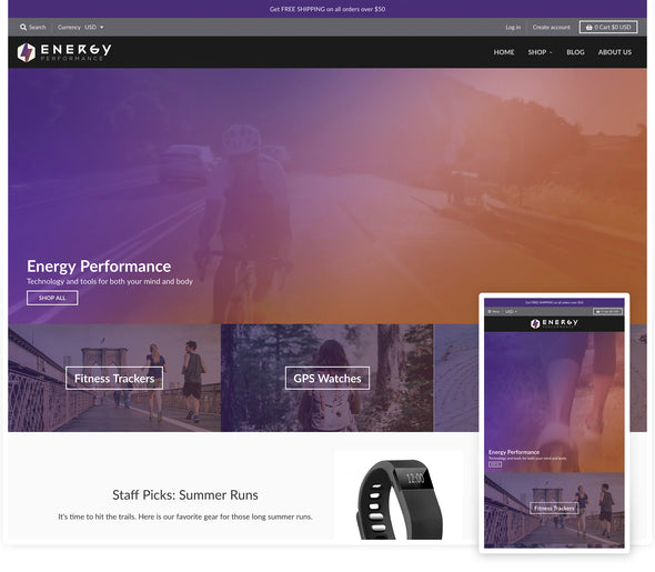 District Theme - Energy design preset homepage