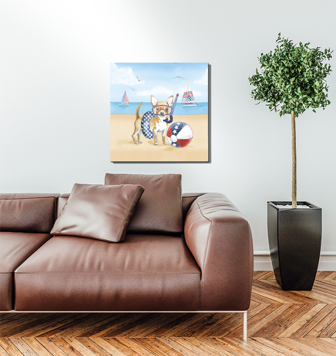 Summer Paws Patriotic II Wall Art <br>(57362)<br> - New Depictions | Wall Art Prints