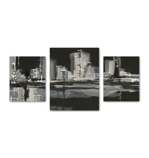Urban Gray Multi-Panel Canvas <br>(50280)<br> - New Depictions | Wall Art Prints
