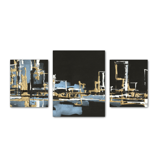 Urban Gold VI Multi-Panel Canvas <br>(50279)<br> - New Depictions | Wall Art Prints