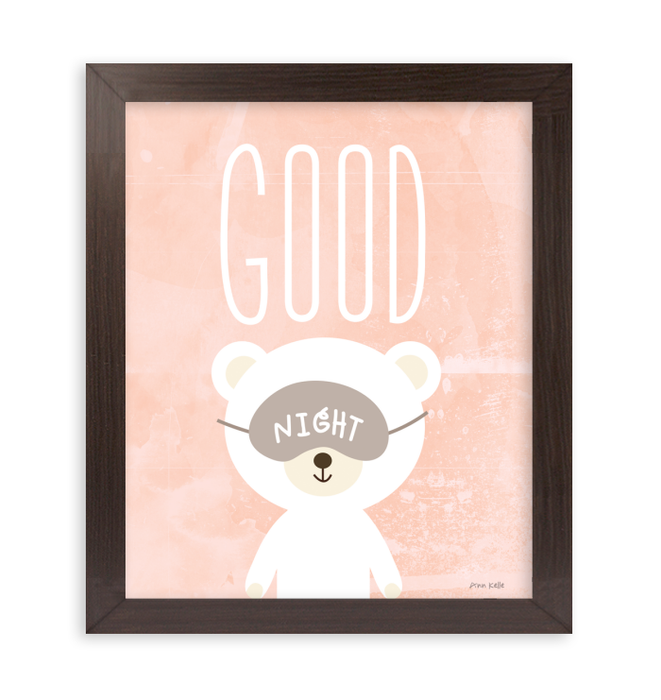 Goodnight | Animal themed art for toddlers <br>(56454)<br> - New Depictions | Wall Art Prints