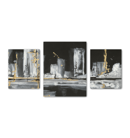 Urban Gold V Multi-Panel Canvas <br>(50278)<br> - New Depictions | Wall Art Prints