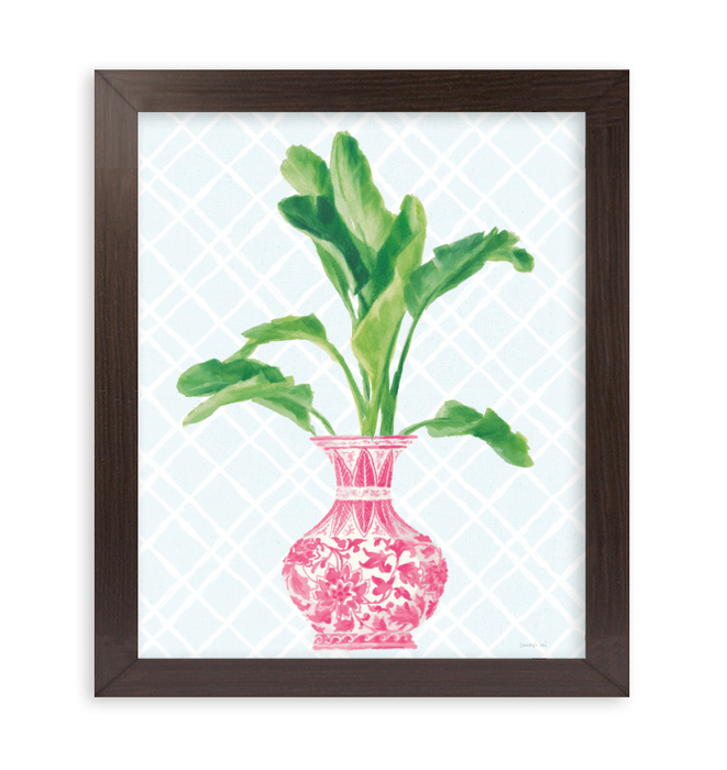 Palm Chinoiserie I Pink Wall Art <br>(55307)<br> - New Depictions | Wall Art Prints