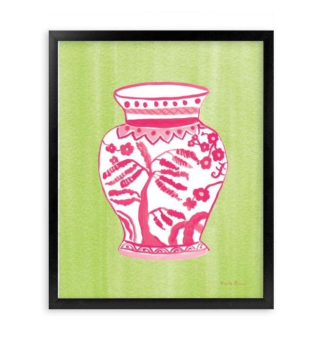 Chinoiserie IV Pink Watercolor Wall Art <br>(55320)<br> - New Depictions | Wall Art Prints