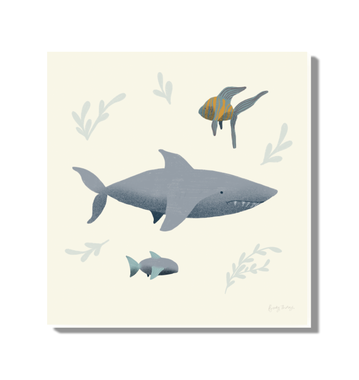 Ocean Life Shark Wall Art <br>(54180)<br> - New Depictions | Wall Art Prints