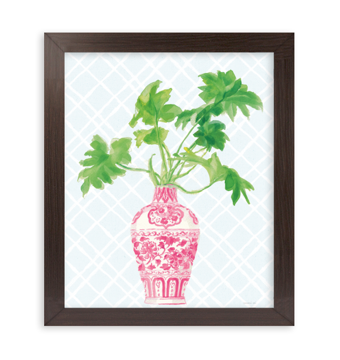 Palm Chinoiserie III Pink Wall Art <br>(55308)<br> - New Depictions | Wall Art Prints