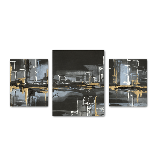 Urban Gold II Multi-Panel Canvas <br>(50275)<br> - New Depictions | Wall Art Prints