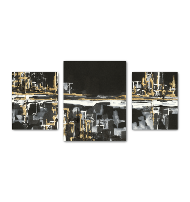 Urban Gold I Multi-Panel Canvas <br>(50274)<br> - New Depictions | Wall Art Prints