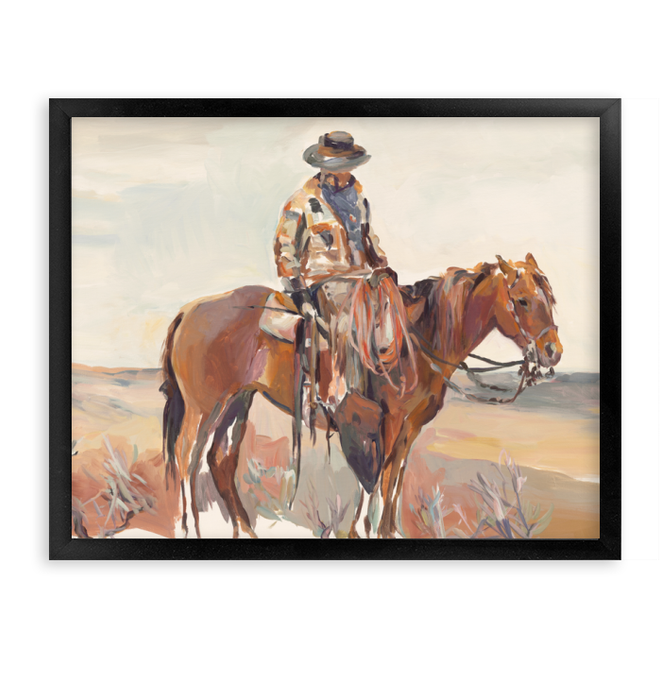 Western Rider Warm Wall Art <br>(52854)<br> - New Depictions | Wall Art Prints