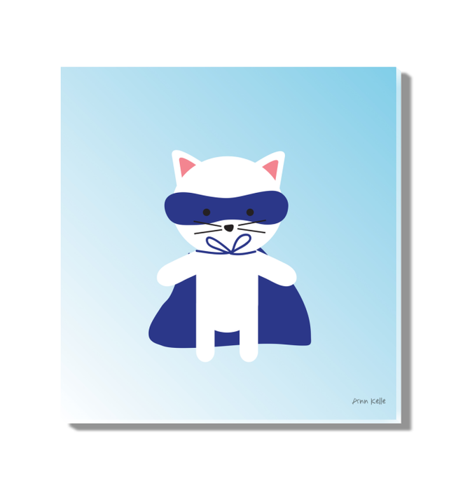 Cat Super Hero Wall Art <br>(55594)<br> - New Depictions | Wall Art Prints