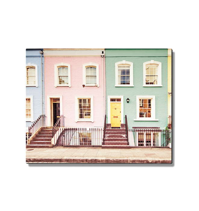 Chelsea Houses All Lined Up Spring Wall Art <br>(54226)<br> - New Depictions | Wall Art Prints