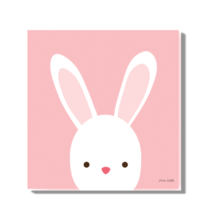 Cuddly Bunny | Animal themed art for toddlers <br>(55590)<br> - New Depictions | Wall Art Prints