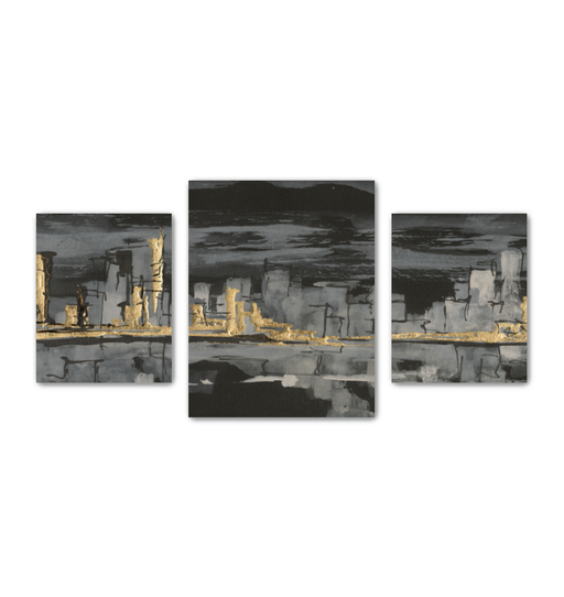 Urban Gold IV Multi-Panel Canvas <br>(50277)<br> - New Depictions | Wall Art Prints