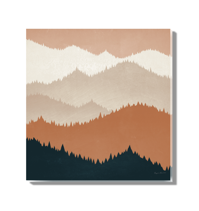 Mountain View Terra Cotta Wall Art <br>(55570)<br> - New Depictions | Wall Art Prints