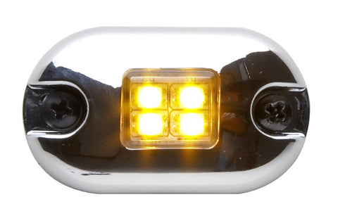 Whelen 0S Square Lens Series Amber Marker/Clearance Light with Clear Lens, 0SA00MCR