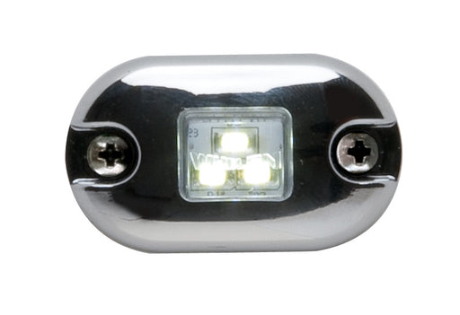 Whelen 0S Square Lens Series White Illumination Light with Clear Lens, 0SC0EDCR