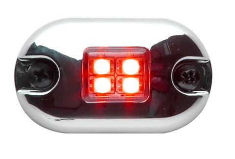 Whelen 0S Square Lens Series Red with Single Flash and Clear Lens, 0SR00FCR