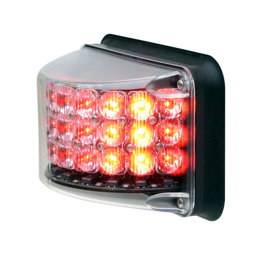 Whelen 600 Series Super-LED® Rota-Beam™ Red with Clear Lens Lightheads, 6RBRC