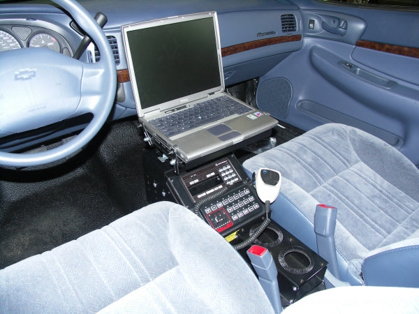 "Havis 8"" Enclosed Low Profile Console, Without Vehicle Mount, 30 Degrees, C-SM-830"