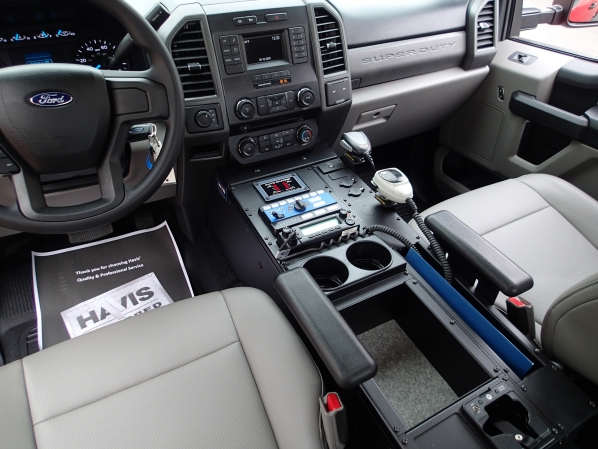 "Havis Vehicle Specific Console for 2017-2019 Ford F-250, 350, 450 XL and XLT Super Duty pickup, F-450 and 550 cab chassis, 2015-2019 Ford F-150 XL and XLT pickup 30"" Long 12.5"" Wide Style Console, C-VS-3000-F150-1"