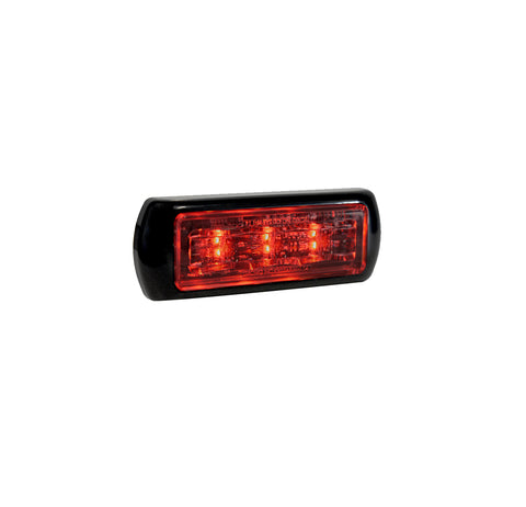 K30 Red Grille Flasher 3 LED Clear Lens