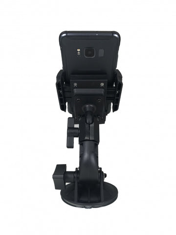 Havis Standard Universal Rugged Phone Cradle & Industrial Strength Suction Cup Mount, PKG-WIN-101
