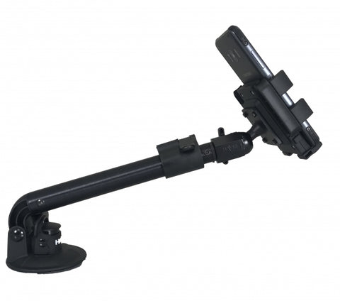 Havis Telescoping Universal Rugged Phone Cradle & Industrial Strength Suction Cup Mount, PKG-WIN-102