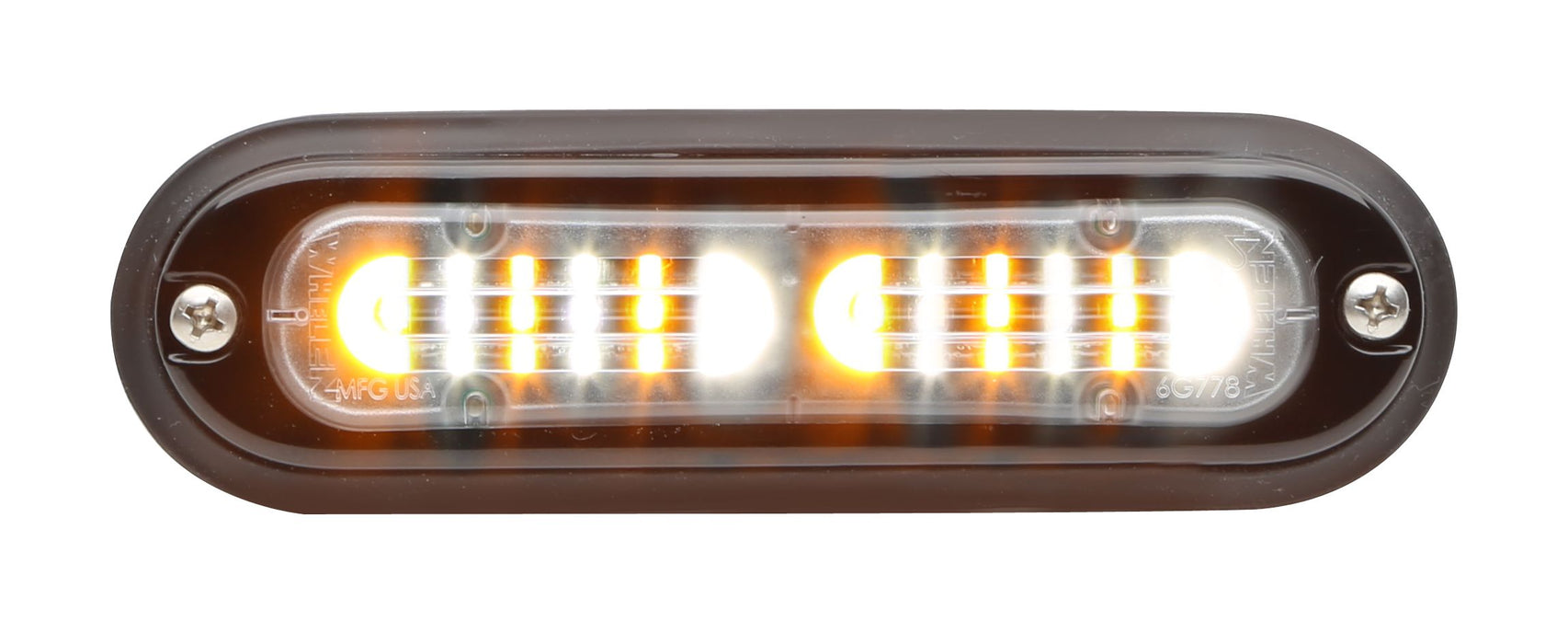 Whelen Ion T-Series Linear Duo Super LED, Amber/White- TLI2F