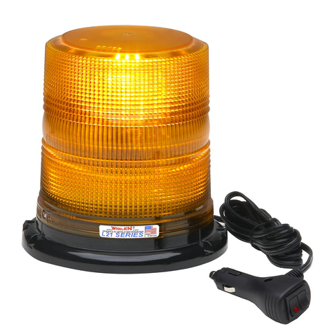 Whelen L21 Series Super-LED® High Dome Beacon with Magnetic Mount, Amber- L21HAM