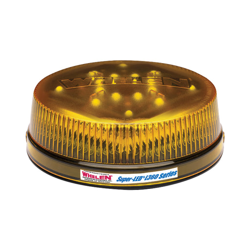 Whelen L32 Series Super-LED® Beacon, Class 1 in Amber Low Dome - Cast Aluminum Base, L32LAF