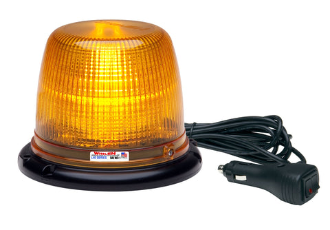 Whelen L41 Series Super-LED® Beacon with Magnetic Mount, Amber- L41AM